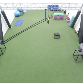 GYM_green floor_equipment2997